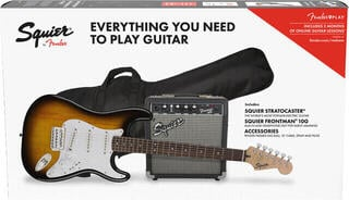 Fender Squier Stratocaster Pack IL Brown Sunburst