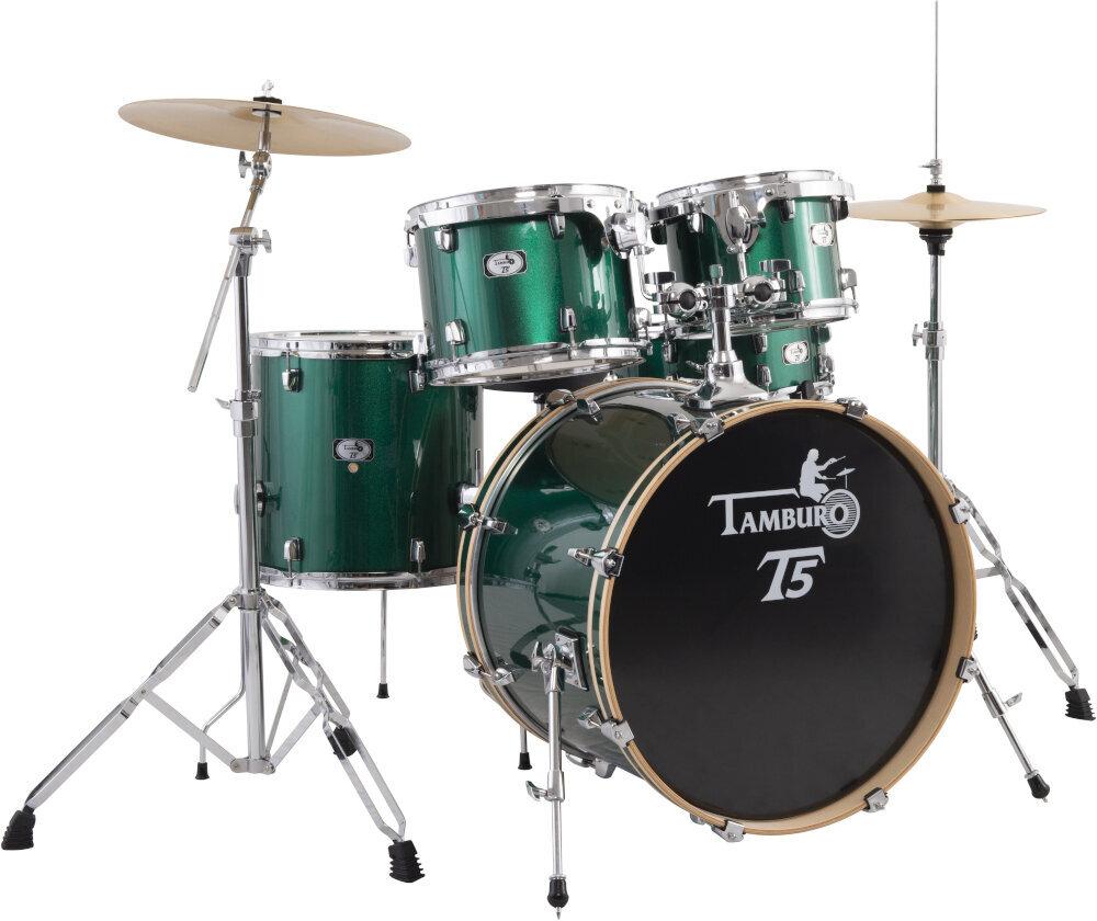 Tamburo T5M22 Green Sparkle