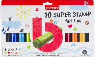 Bruynzeel Kids Super Stamp Felt Tip 10 Set