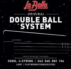 LaBella S500L Double Ball End Flat Wound Bass Strings Light 43-104