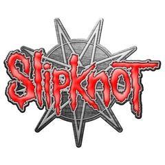 Slipknot 9 Pointed Star Badge Metallic