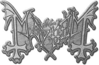 Mayhem Metal Logo Pin Badge