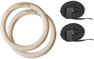 Thorn+Fit Wood Gymnastic Rings with Straps 28 mm