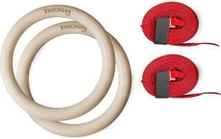 Thorn+Fit Wood Gymnastic Rings with Straps 32 mm