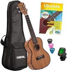 Cascha HH 2036 DE Premium Koncertné ukulele Natural