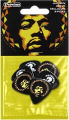 Dunlop Jimi Hendrix Guitar Picks Aura 6 Pack
