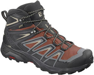 Salomon X Ultra 3 Mid GTX Burnt Bric/Black 8,5