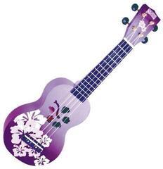 Mahalo Soprano Ukulele Hibiscus Purple Burst