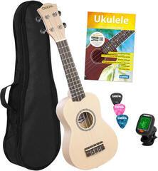 Cascha HH 3975 EN Szoprán ukulele Cream