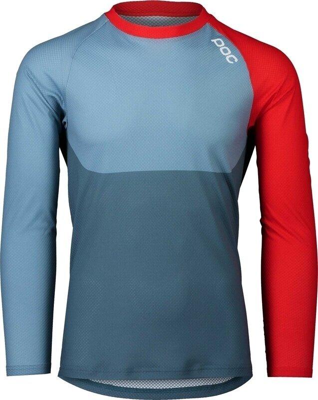 POC MTB Pure LS Jersey Calcite Blue/Prismane Red XL