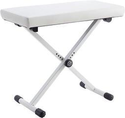 Konig & Meyer 14077 Keyboard Bench Pure White Imitation Leather
