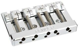 Fender HiMass 5-String Bass Wide Bridge Assembly With Zinc Saddles Chrome