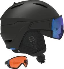 Salomon Driver Custom Air Ski Helmet Black/Solar Blue M 20/21