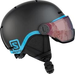 Salomon Grom Visor Ski Helmet Black/Tonic Orange L 20/21