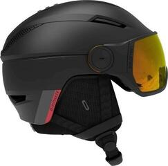 Salomon Pioneer Visor Photo Ski Helmet Black/Red L 20/21