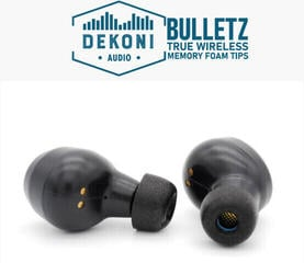 Dekoni Audio Premium Memory Foam Isolation Earphone Tips Black - True Wireless (Sample Pack)