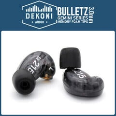 Dekoni Audio Premium Memory Foam Isolation Earphone Tips Black - Gemini 3 mm Large (3 pack)