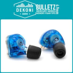 Dekoni Audio ETZ-MERCURY-LG-13mm Náušníky pro sluchátka AKG-Audio-Technica-Sennheiser-Shure standardní sluchátka 4,9 mm Černá