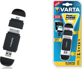 Varta Mini Powerpack 2 Adaptors Black