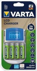 Varta PP LCD Charger 4xAA 2500 R2U& 12V + USB adapter Battery charger