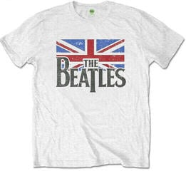 The Beatles Logo & Vintage Flag Bílá