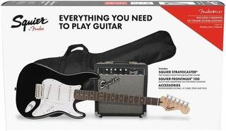 Fender Squier Stratocaster Pack IL Fekete