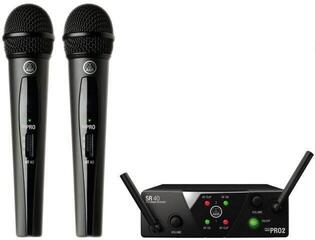 AKG WMS40 Mini2 Vocal Dual US45A: 660.7MHz + US45C: 662.3MHz