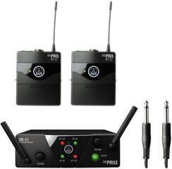 AKG WMS40 Mini2 Instrumental Dual US45A: 660.7MHz + US45C: 662.3MHz