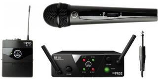AKG WMS40 Mini2 Vocal/Instrumental Dual US45A: 660.7MHz + US45C: 662.3MHz