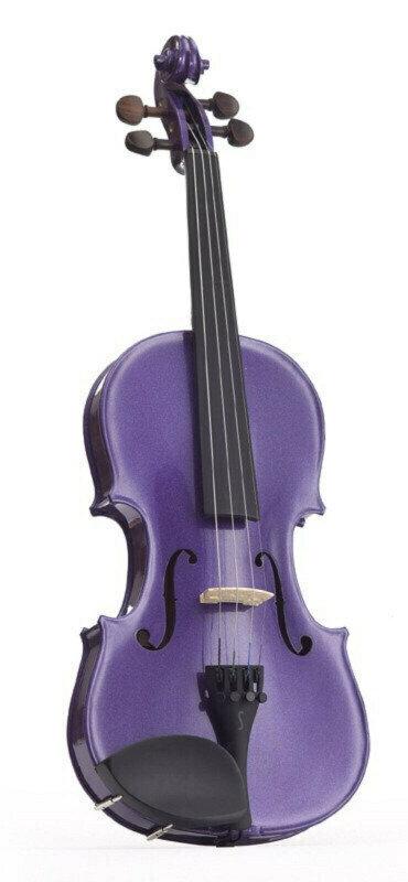 Stentor E-Violin 4/4 Student II, Artec Piezo Pickup Deep Purple Stentor
