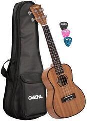 Cascha HH 2035 Premium Mahogany Concert Ukulele Set