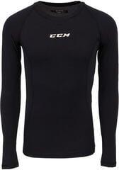 CCM Performance Long Sleeve Compression Top Black JR XL