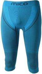 Mico 3/4 Tight Mens Base Layer Pants Blue