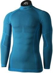 Mico Long Sleeve Mock Neck Mens Base Layer Odorzero XT2 Blue