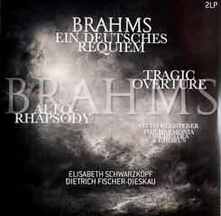 Johannes Brahms Brahms Ein Deutsches Requiem / Alto Rhapsody / Tragic Overture (2 LP)