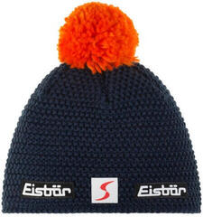 Eisbär Jamie Pompon Skipool Beanie Dark Cobalt/Pop Orange