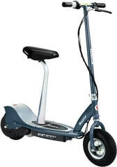 Razor E300S Electric Scooter Seated Matte Gray