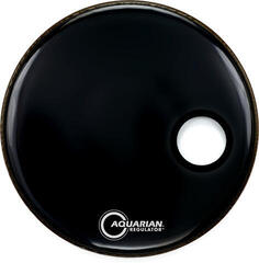 Aquarian 18'' Front Hole W/Ring Black