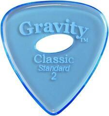 Gravity Picks GCLS2PE Classic Standard 2.0mm Polished w/ Elipse Blue
