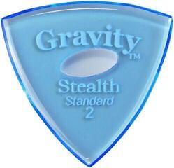 Gravity Picks GSSS2PE Stealth Standard 2.0mm Polished w/ Elipse Blue