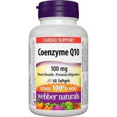 Webber Naturals Coenzyme Q10 100 mg - BONUS 30 + 30 caps.