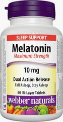 Webber Naturals Melatonin 10 mg with Dual Action Release. 60