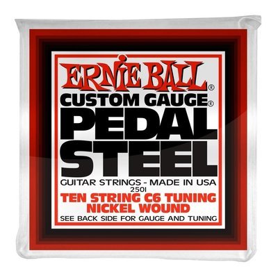 Ernie Ball Pedal Steel Nickel Wound 10-string C6 Tunning