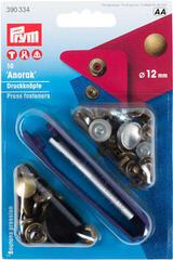PRYM Non-Sew Fasteners Anorak Brass