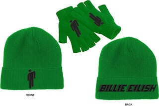 Billie Eilish Unisex Beanie Hat & Glove Set Green