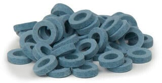 Bulldog Music Gear Natural Felt Rings Light Blue Pack of 22