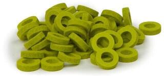 Bulldog Music Gear Natural Felt Rings Lime Pack of 22
