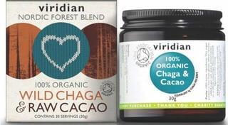 Viridian Wild Chaga & Raw Cacao 30 g