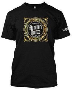 Ernie Ball Aluminium Bronze T-Shirt Black XL