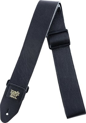 Ernie Ball 4134 2'' Tri-Glide Italian Leather Strap Black